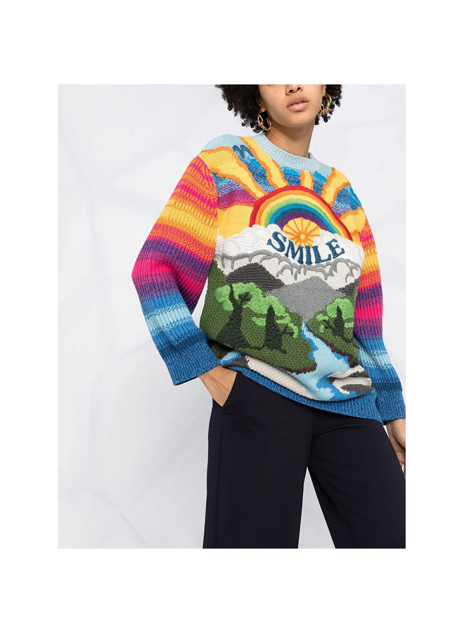 Smile Rainbow Jumper in Multicolor