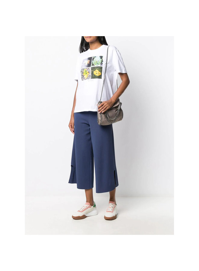 Oversize Printed T-shirt in Cotton in White