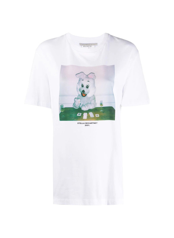 Logo Bunny T-shirt in Cotton in White