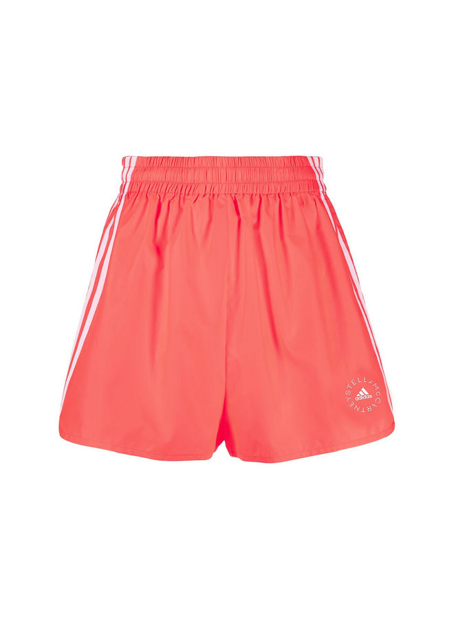 High Waisted Running Shorts in  Coral