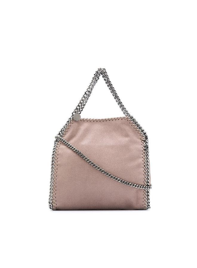 Falabella Mini Tote Crossbody Bag in Grey Pink