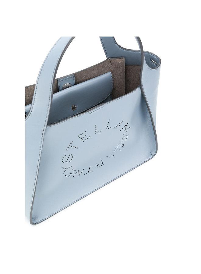Logo Medium Tote Bag in Cameo Blu