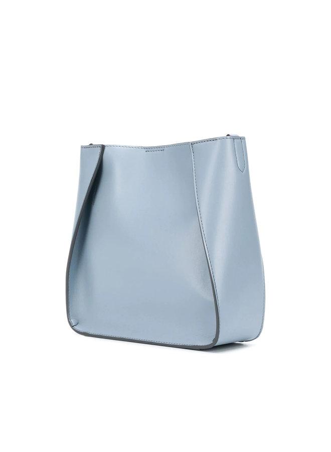 Mini Logo Crossbody Bag in Cameo Blu