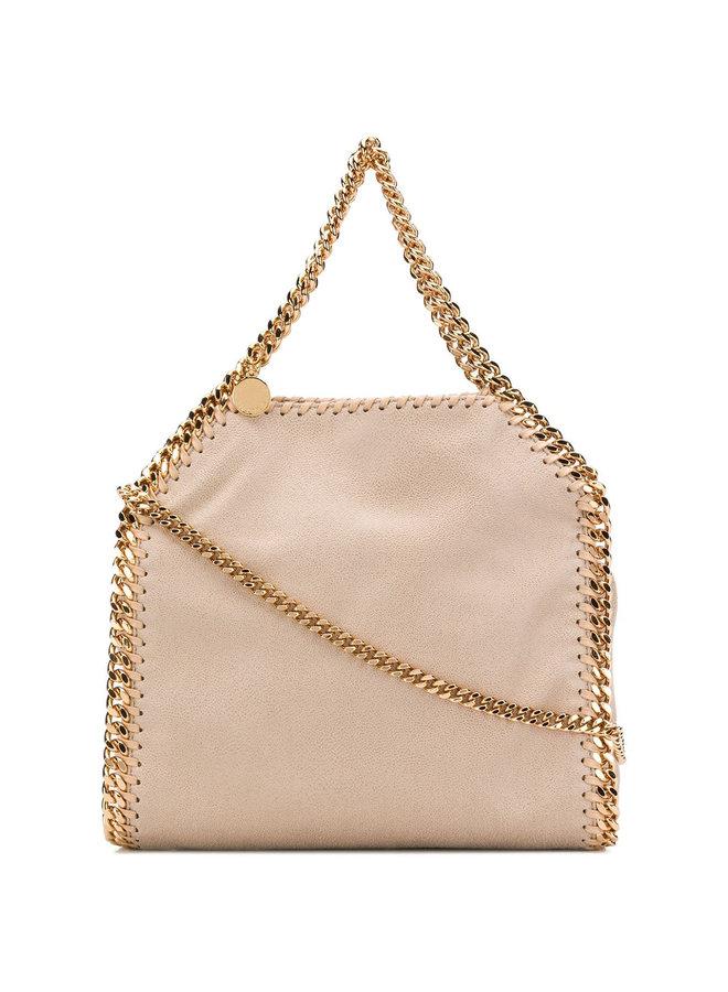 Falabella Mini Tote Crossbody Bag in Butter Cream
