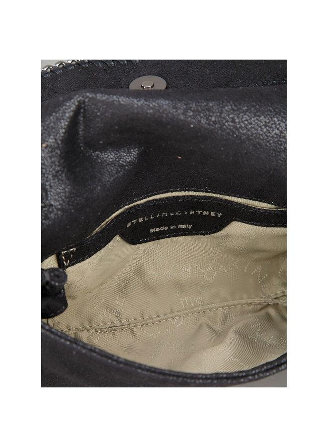 Falabella Fold Over Crossbody Bag in Black