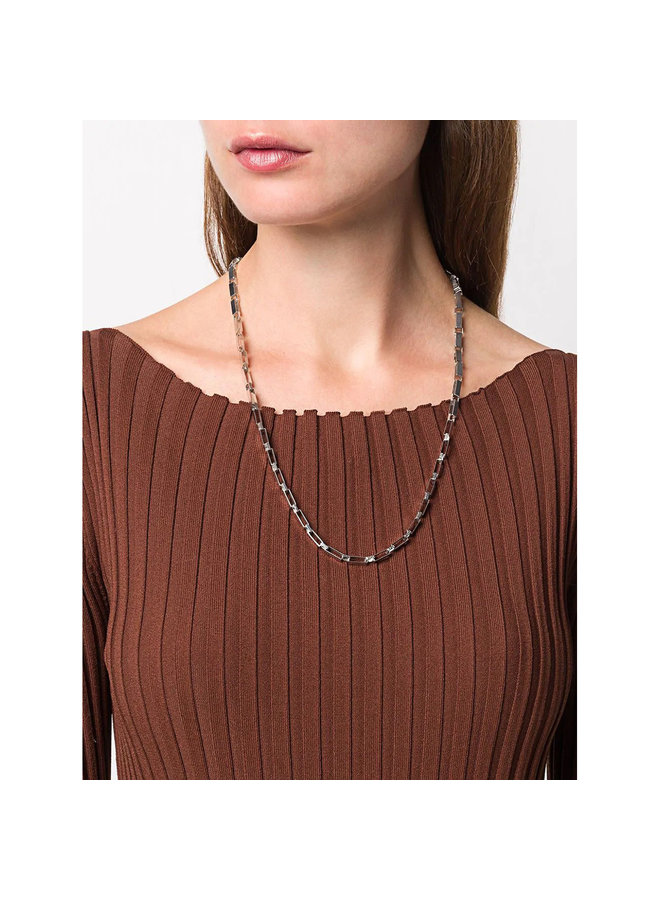 Signora Chain Matinee Necklace in Silver