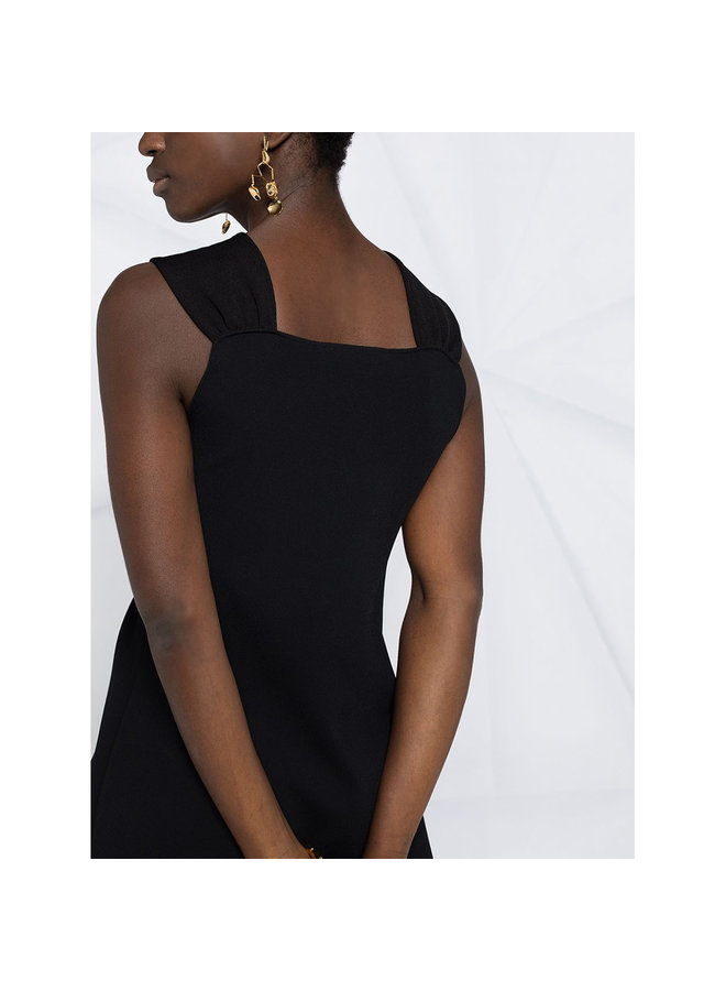 Sleeveless Cutout Detail Top in Black