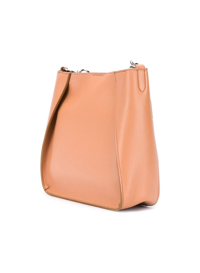 Mini Logo Crossbody Bag in Camel