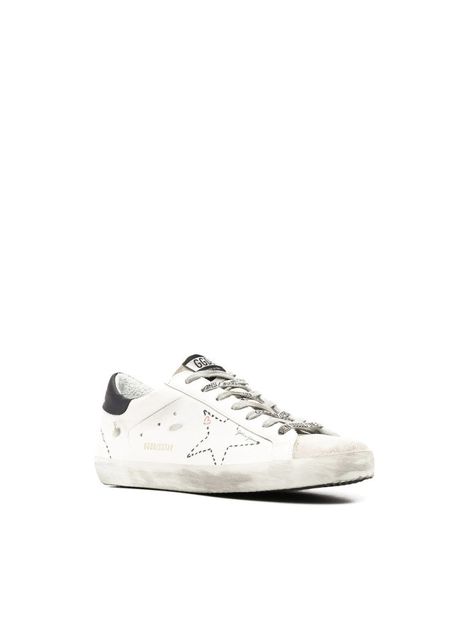 Mens Superstar Low Top Sneakers in Leather in Ice