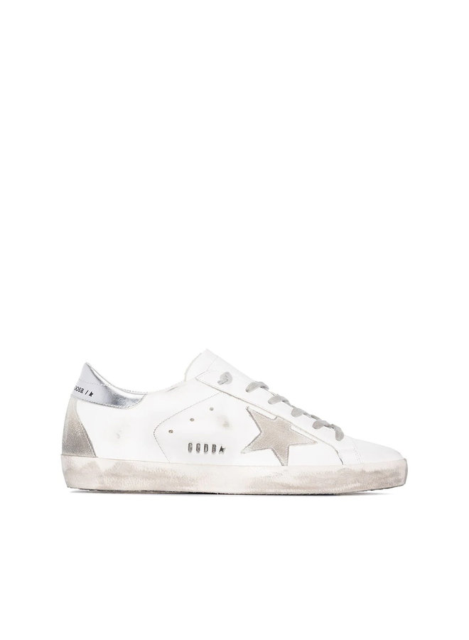 Superstar Low Top Sneakers in Leather in White