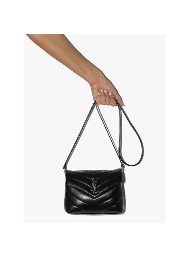 Loulou Toy Crossbody Bag in Leather in Black