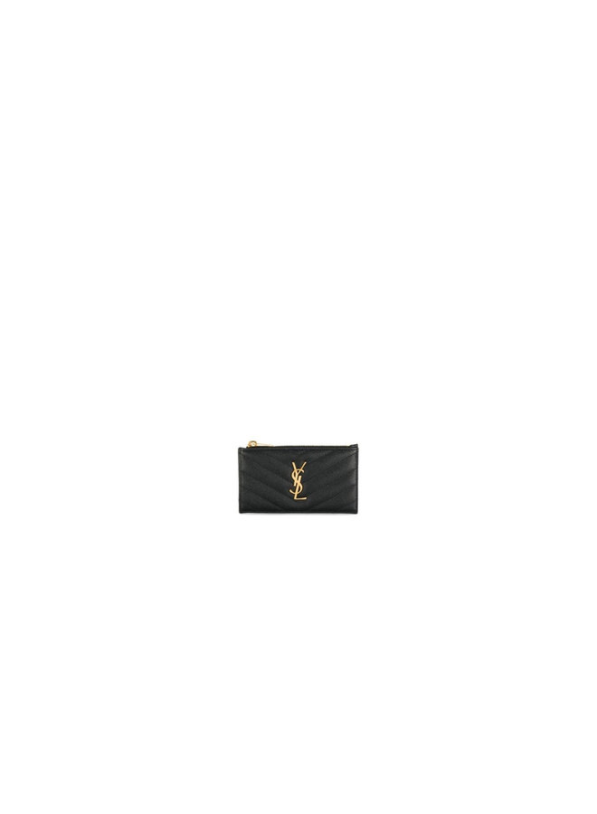 Monogram Zip Card Holder