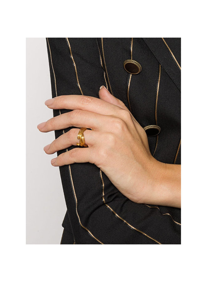 Monogram Ring in Gold
