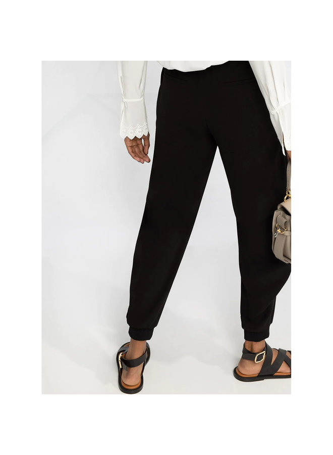 Drawstring Jogging Casual Pants in Black