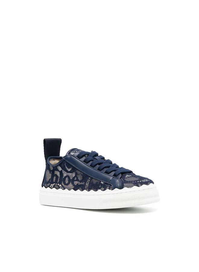 Lauren Low Top Sneakers in Lace in Blue Lagoon