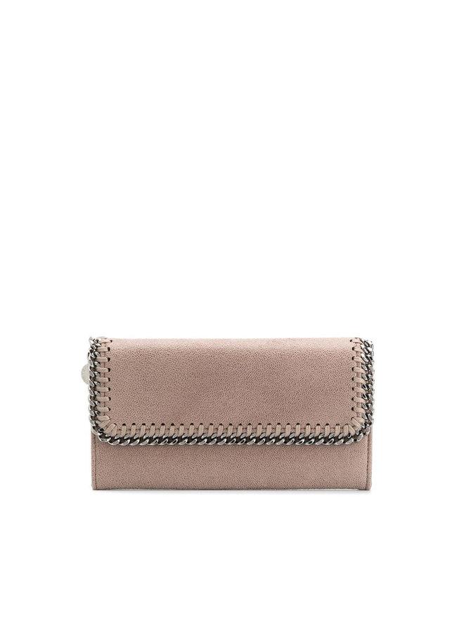 Falabella Continental Flap Wallet in Grey