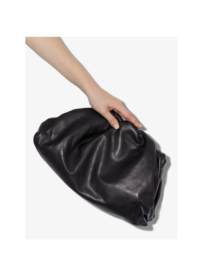 The Pouch Large Clutch Bag in Calfskin Napa Leather in Black