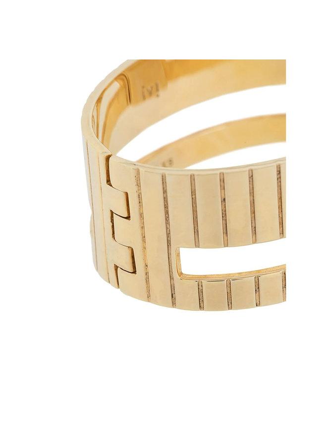 Slot Bracelet in Gold