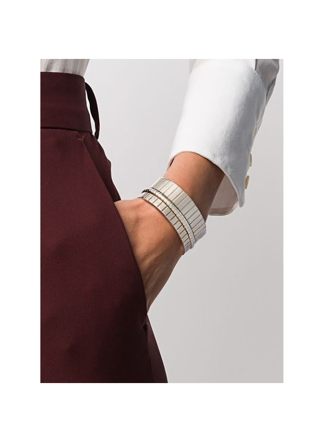 Chunky Slot Cuff in Silver