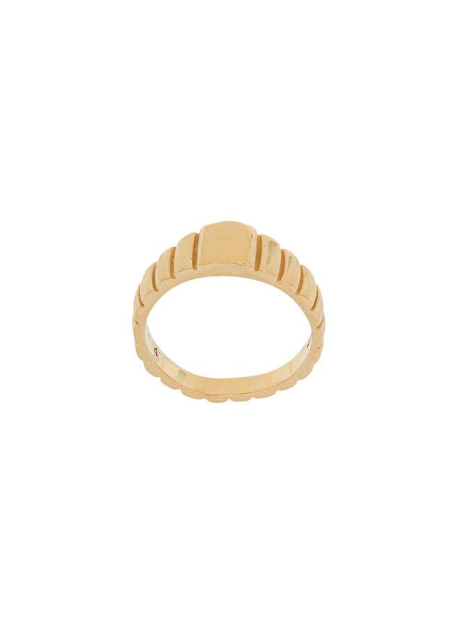 Medium Signore Signet Ring in Gold