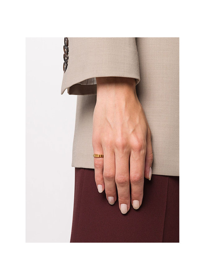 Skinny Signore Signet Ring in Gold