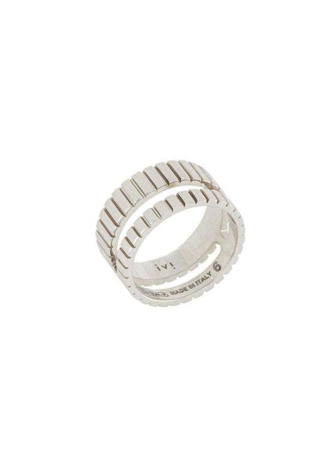 Skinny Slot Ring in Silver