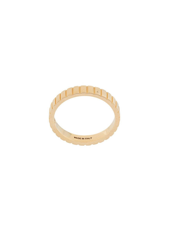 Single Skinny Slot Ring in Gold