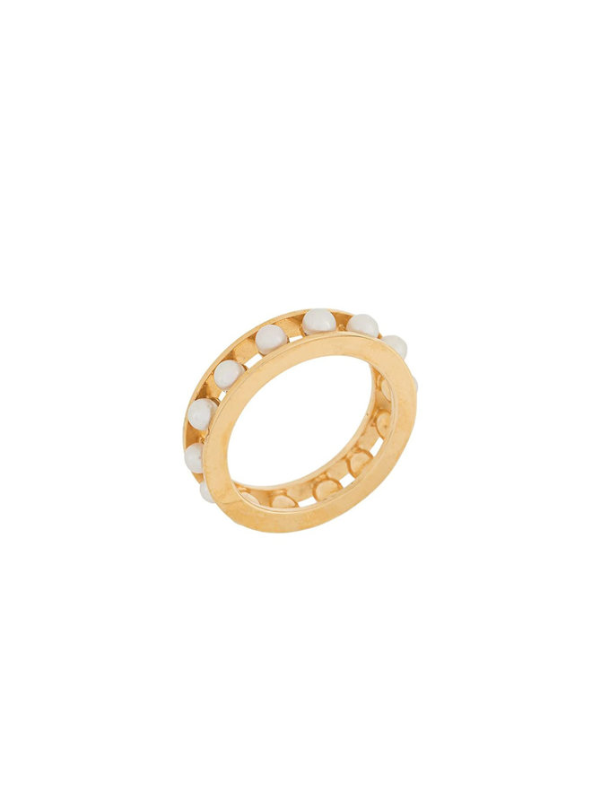 Tiger Pearl Ring in Gold