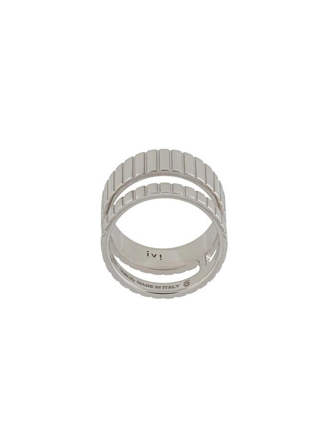 Slot Ring in Silver