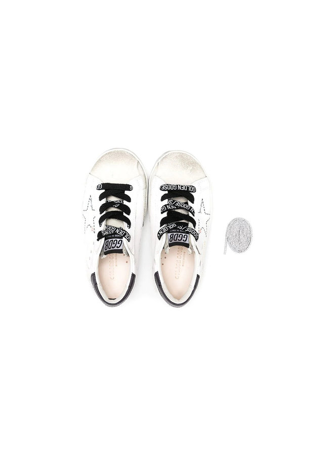 Kids Superstar Low Top Sneakers in Leather in Ice
