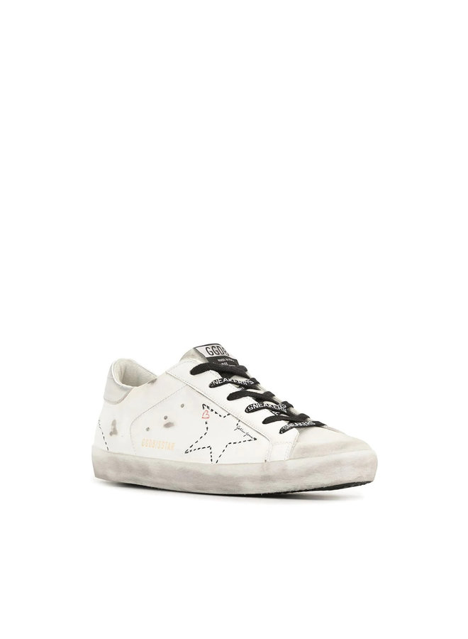 Superstar Low Top Sneakers in Leather in Ice