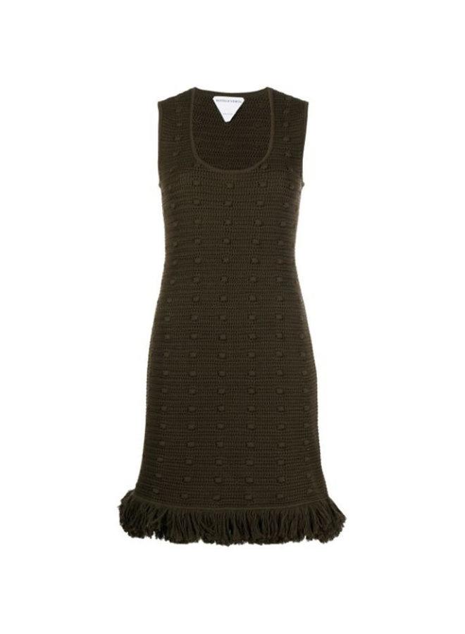 Sleeveless Mini Knitted Dress