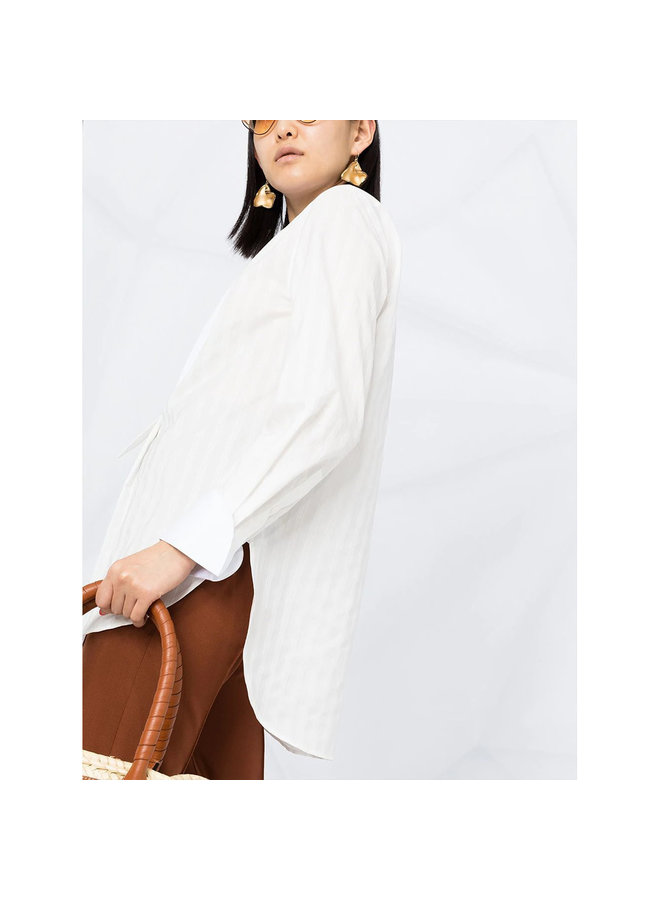 Long Sleeve Shirt in Cotton in Iconic Milk