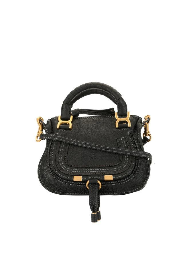 Marcie Mini Bag in Leather in Black