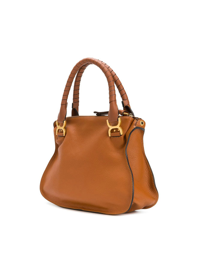 Marcie Medium Shoulder Bag in Leather in Tan