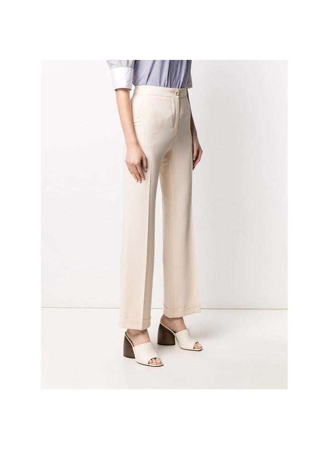Straight Leg Cropped Pants in Beige