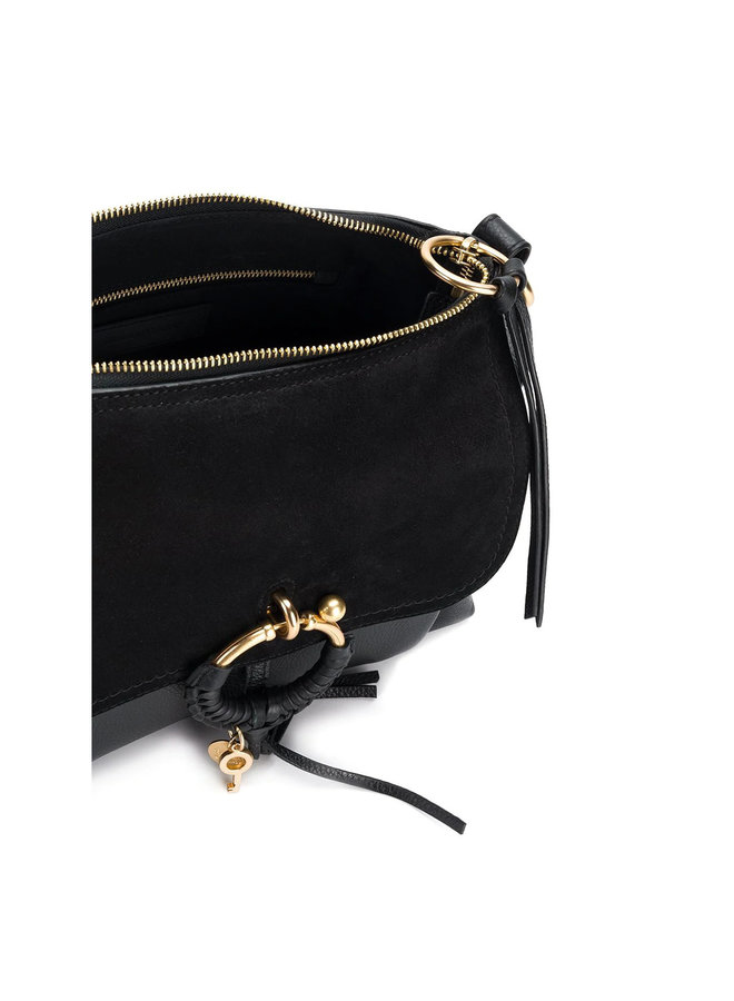 Small Joan Shoulder Bag in Leather in Black