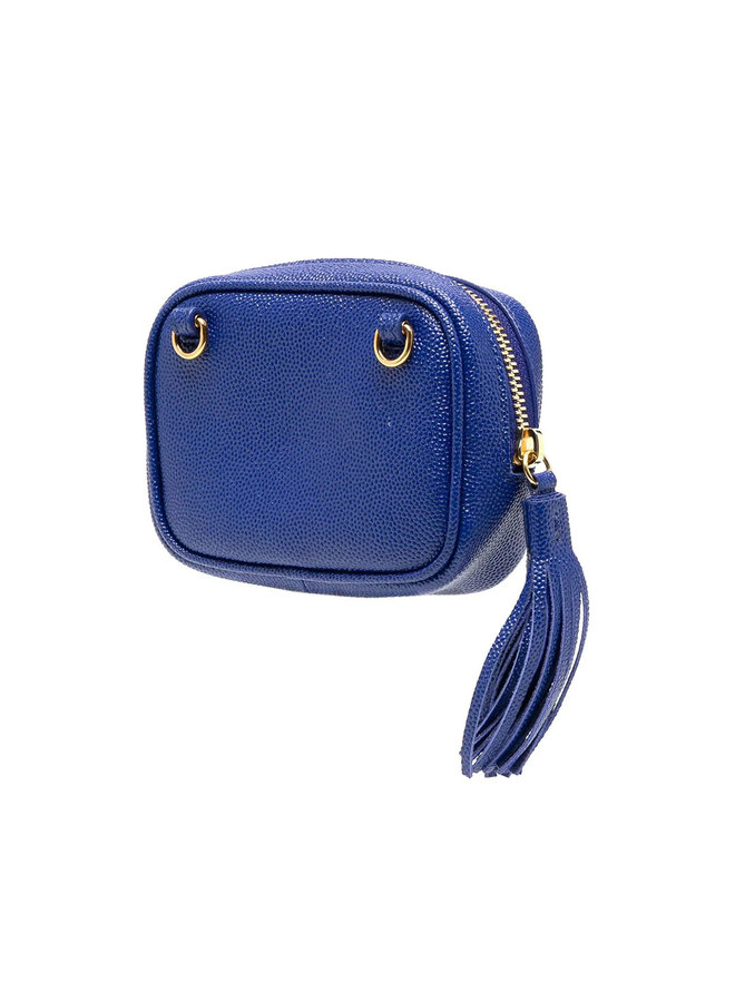 Baby Lou Key pouch in Leather in Blue