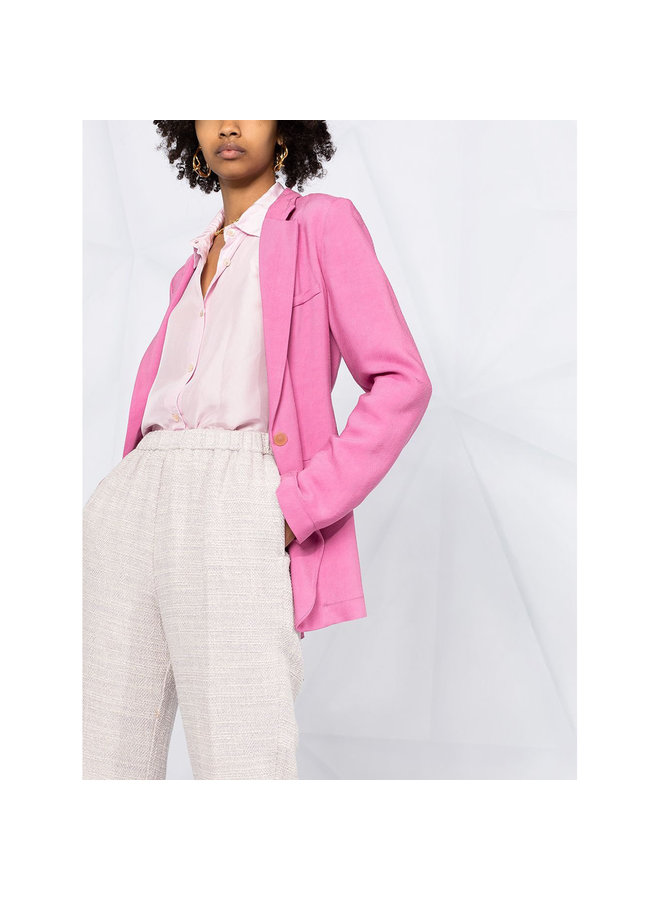 Cropped Slim Fit Trousers in Lilac