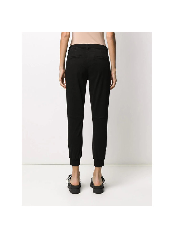 High Waisted Zipped Ankle Jeans in Black