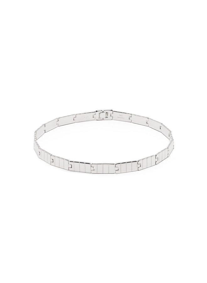 Slot Chain Choker in Silver