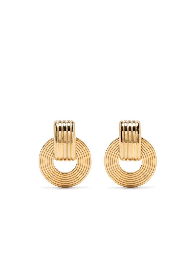 Signore Tube Oval Drop Earrings
