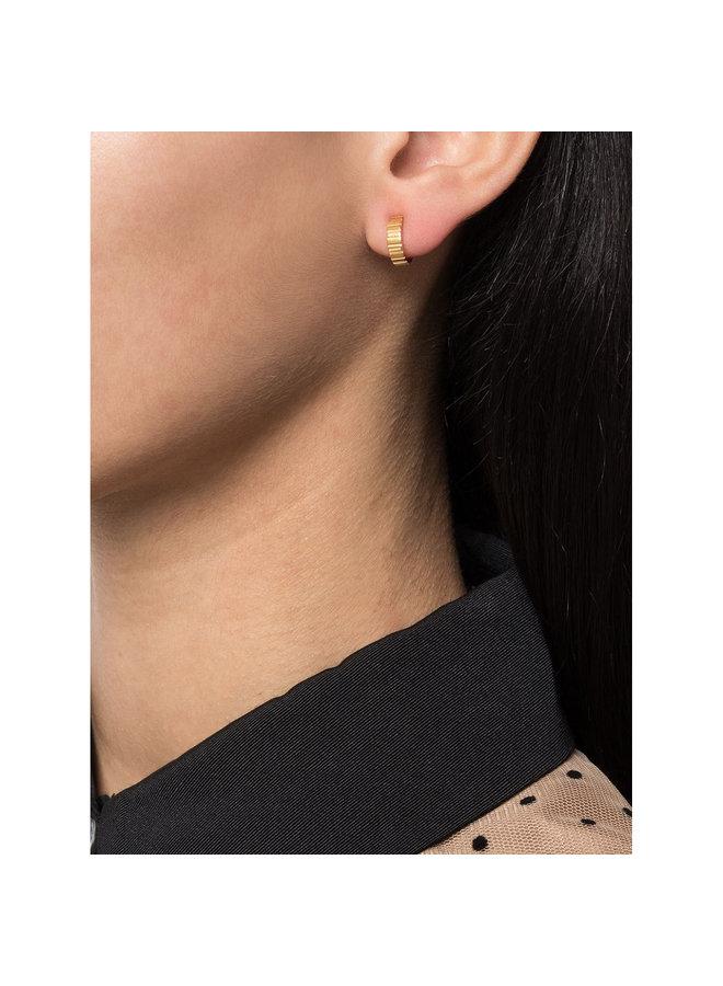 Skinny Slot Hoop Earrings in Gold
