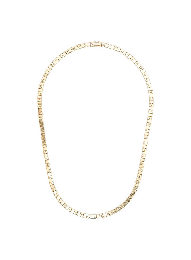 Vintage Chain Matinee Necklace in Gold