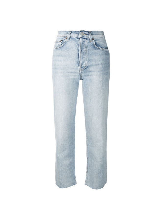 High Waisted Cropped Denim Pants