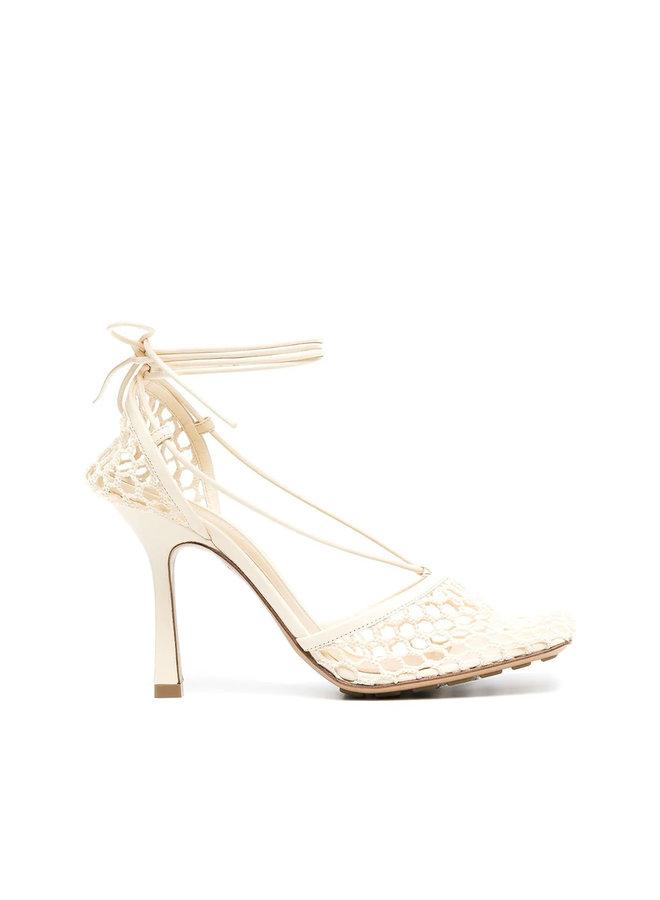 Stretch Mesh High Heel Sandals