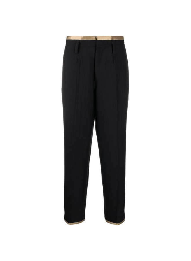 High Waisted Pants with Contrast Trim