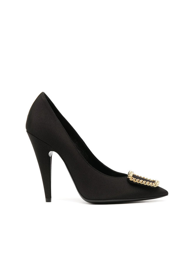 Suplice High Heel Pumps with Chain Detail in Black