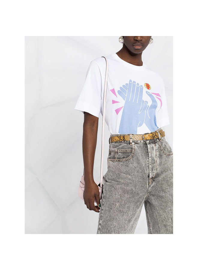 Printed T-shirt in Cotton in White