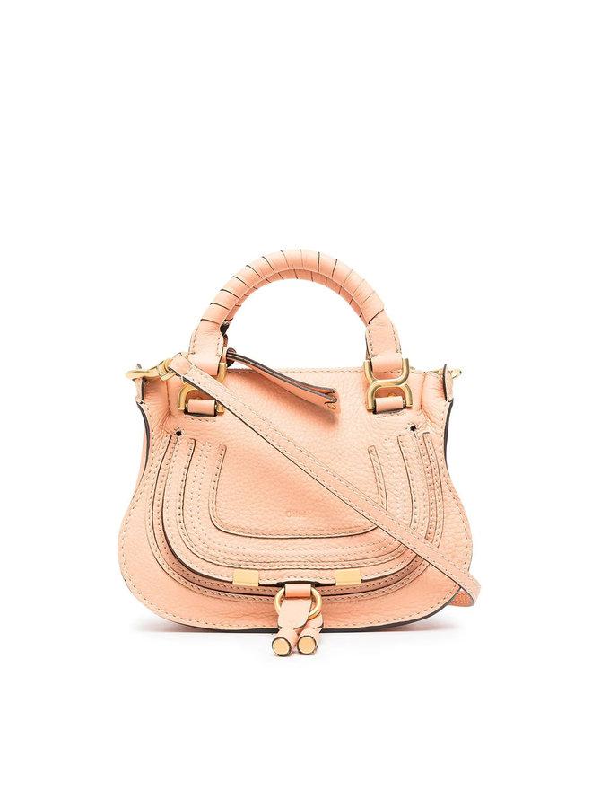 Mini Marcie Crossbody Bag in Leather in Peach Bloom
